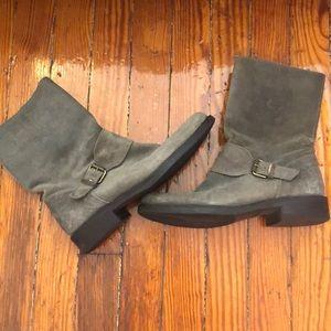 JCrew grey field boots